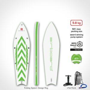 "Airboard Hike Ultralight Green 9'9"""