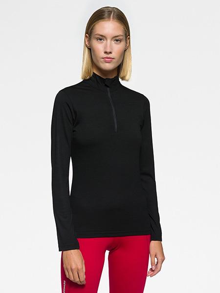 JOLLY Half Zip Woman LS-Black